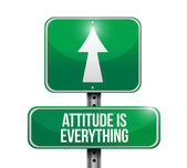Attitude is everything road sign concept — Stock Photo