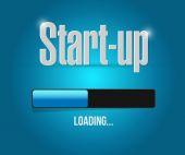 Start-up loading bar sign concept — Stock Photo