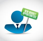 New market opportunities people sign concept — Stock Photo