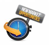 New market opportunities watch sign concept — Stock Photo