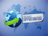 New market opportunities international sign — Stock Photo