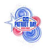 Patriot day circles illustration design — Stock Photo