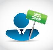 Order online people sign concept — Stock Photo
