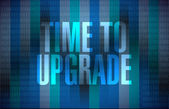 Time to upgrade binary background sign concept — Stock Photo