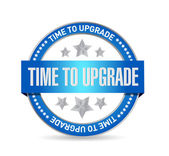 Time to upgrade seal sign concept — Stock Photo