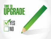 Time to upgrade approval sign concept — Stock Photo