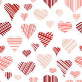 Seamless of Hearts — Stock Vector