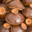 Brown Tajines at the market, Morocco — Stock Photo #53422017