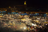 Jemaa el-Fnaa, square and market place in Marrakesh — Stock Photo