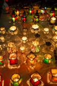 Lamps from the souk in Marrakesh at night — Stock Photo