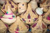 Wicker Tajines in the market, Morocco — Stock Photo