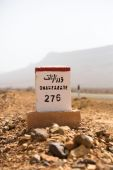 Famous white and red road sign, Morocco — Stock Photo
