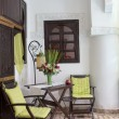 Classical Moroccan riad interior with traditional furnitures — Stock Photo #54835377