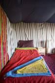 Interior Berber tent in Morocco — Stock Photo