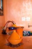在传统的浴室里的摩洛哥装饰 — 图库照片