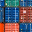 Four vertical rows of shipping containers — Stock Photo #57543647