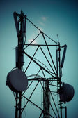 Telecommunication radio tower — Stockfoto
