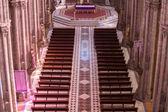 Gothic interior of the Basilica Del Voto Nacional, Quito — Stockfoto