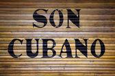 Begreppet kubanska flagga och ljud från Kuba — Stockfoto