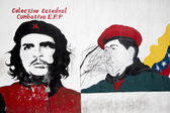 Graffiti of Hugo Chavez President and Che Guevara. Caracas. Vene — Stock Photo