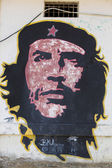 Colorful graffiti of Che Guevara on a wall in Pampatar, Venezuel — Stock Photo
