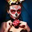 Halloween make up sugar skull — Stock Photo #59106065