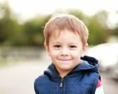 Boy face smiling — Stock Photo