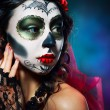 Halloween make up sugar skull — Stock Photo #64596053