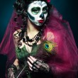 Halloween make up sugar skull — Stock Photo #64596419