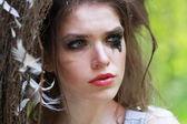Woman in  fashion style Cinderella — Stock Photo