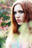 Woman portrait in Boho style — Stock Photo