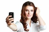 Woman taking self picture — Stock Photo