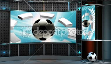 Virtual set sport HD video background — Stock Video