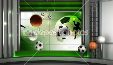 Sport virtual set background HD video looping — Stock Video