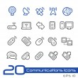 Wireless Communications Icons -- Line Series — Stock Vector