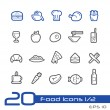 Food Icons - Set 1 of 2 -- Line Series — Stock Vector #53049627