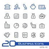 Business and Finance Icons -- Line Series — Stock Vector