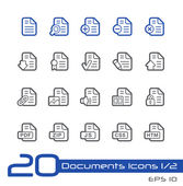 Documents Icons - 1 of 2 -- Line Series — Stock Vector