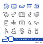 Education Icons -- Line Series — Stock Vector