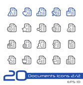 Documents Icons - 2 of 2-- Line Series — Stock Vector