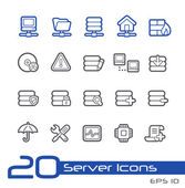 Server Icons -- Line Series — Stock Vector