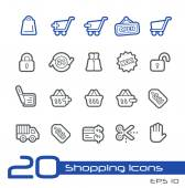 Sopping Icons -- Line Series — Stock Vector