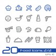 Food Icons - Set 1 of 2 -- Line Series — Stock Vector #53472167