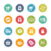 E-Shopping Icons -- Fresh Colors Series — Stock Vector