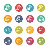 Dokumentů ikony - 2 – Série čerstvé barvy — Stock vektor