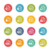Documents Icons - 1 -- Fresh Colors Series — Stock Vector