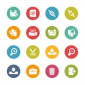 Inteface Icons -- Fresh Colors Series — Stock Vector