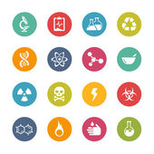 Science Icons -- Fresh Colors Series — Stock Vector