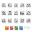 Computer and Devices Icons -- Outline Button — Stok Vektör #56718721