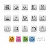 Web Icons -- Outline Button — Stok Vektör